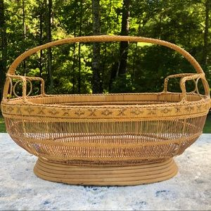 Vintage Handmade Wicker Basket